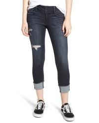 Ripped roll cuff skinny jeans medium 8831786