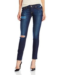 Paige Skyline Ankle Peg Jean In Heather Tear And Repair