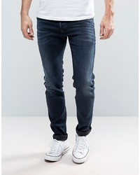 Sleenker skinny jeans 679q dark distressed wash medium 3642131
