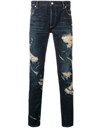 Balmain Slim Cut Ripped Jeans