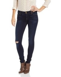7 For All Mankind The Skinny With Knee Destroy