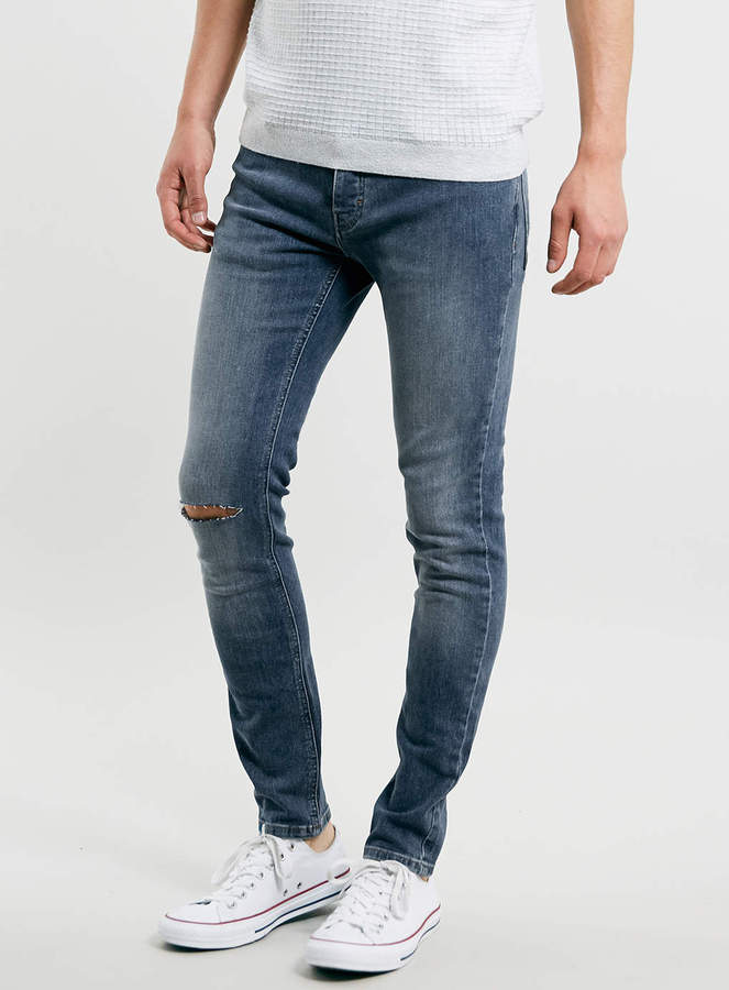Topman Mid Wash Ripped Stretch Skinny Jeans | Where to buy & how ...