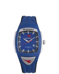 Diadora Blue Black Rubber Date Watch