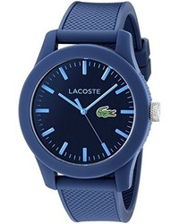 Lacoste 2010765 1212 blue resin watch with textured silicone band medium 276913