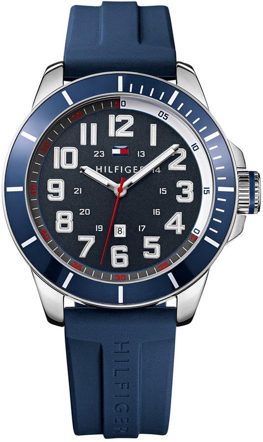 b8de1ec7d Tommy Hilfiger Navy Silicone Strap Watch 48mm 1791069, $65 | Macy's ...