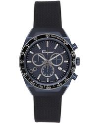Salvatore Ferragamo Navy Slx Watch