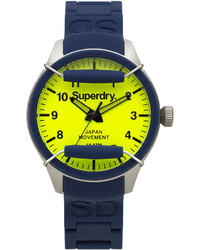 Superdry Scuba Pop Navy Silicone Strap Watch 44mm Iww D10310122