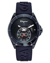 Salvatore Ferragamo Urban Silicone Watch 43mm