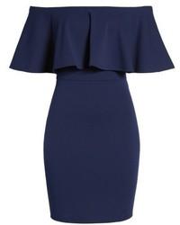 Soprano Ruffle Off The Shoulder Body Con Dress