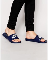Nike Benassi Jdi Sliders In Navy 343880 403