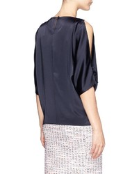 fdb781878fe3ed Nobrand Cut In Shoulder Liquid Satin Blouse, $750 | Lane Crawford ...