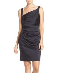 Asymmetrical satin sheath dress medium 817192