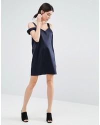 df5b1de8df66 Asos Petite Petite Double Strap Cami Shift Dress In Satin, $43 ...