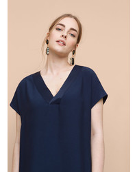 Violeta BY MANGO Satin Panel Dress