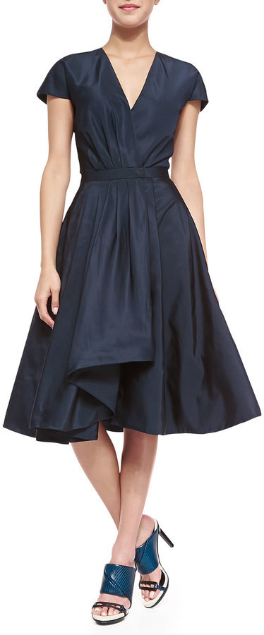 bbe91f2d0 Jason Wu Short Sleeve Silk Flounce Dress, $3,595 | Neiman Marcus ...