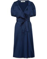 Diane von Furstenberg Valentina Satin Wrap Dress