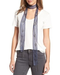 Hinge Beaded Skinny Scarf