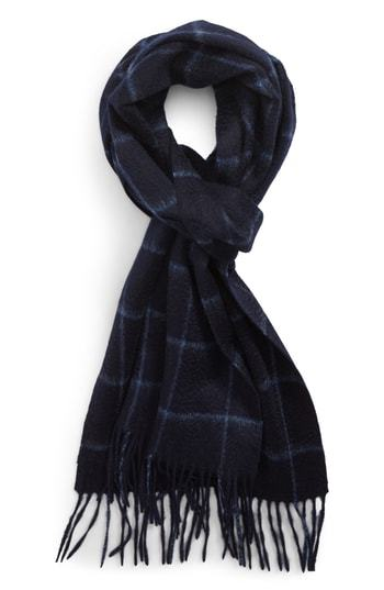 Nordstrom Men's Shop Cashmere Grid Scarf