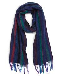 Paul Smith College Stripe Wool Scarf