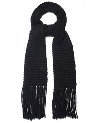 Stella McCartney Fringed Wool And Mohair Blend Scarf