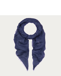 Bally Linen Voile Scarf Navy Blue Linen Voile Scarf
