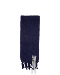 Loewe Navy Mohair Stitches Scarf