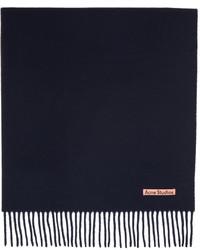 Acne Studios Navy Wool Oversized Scarf