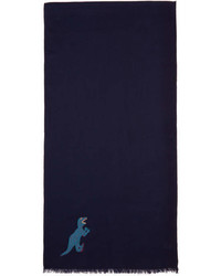 Paul Smith Ps By Navy Dino Scarf