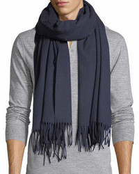 Canada Goose Solid Wool Fringed End Scarf