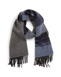 Andrew Stewart Stripe Double Face Cashmere Scarf