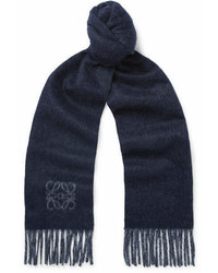 Loewe Two Tone Wool And Angora Blend Scarf