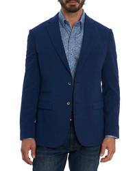 Robert Graham Stella Solid Seersucker Cotton Blend Sport Coat