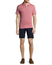 Zachary Prell Costa Seersucker Stretch Cotton Shorts Navy