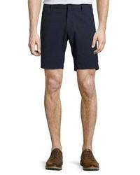 Zachary Prell Costa Seersucker Stretch Cotton Shorts Navy