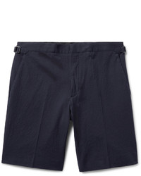 Burberry Stretch Cotton Seersucker Shorts