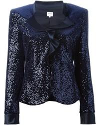 Armani collezioni ruffle detail sequined jacket medium 377857