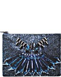 Sapphire perspex clutch medium 180993