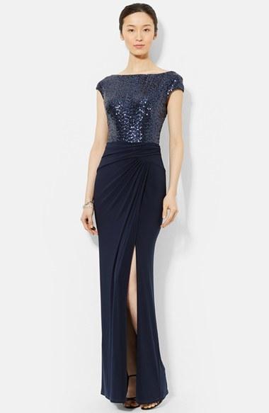 8534c3fab4cf8 ... Lauren Ralph Lauren Sequin Jersey Gown ...