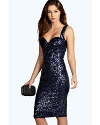 Kimmie sequin fitted cups midi dress medium 5422550
