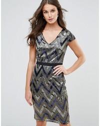 Paper Dolls Zig Zag Shimmer Sequin Dress