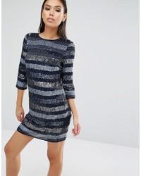 Sequin linear shift mini dress medium 1006023