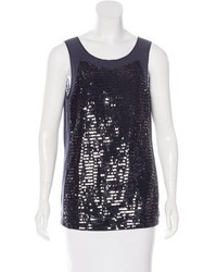 Tory Burch Sequin Embellished Sleeveless Top