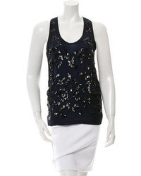 Sleeveless sequined top medium 3804089