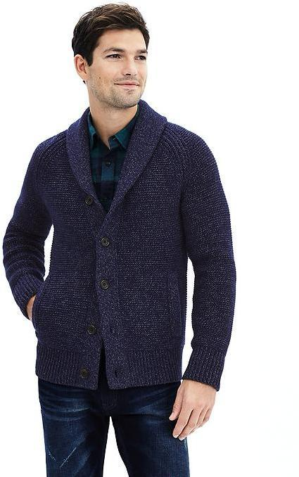 7c4174896 Banana Republic Textured Shawl Sweater Cardigan