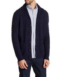 Barque Shawl Collar Tweed Knit Cardigan