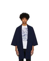 Blue Blue Japan Blue Firm Jersey Hanten Jacket