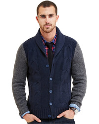 Nautica Cable Knit Shawl Collar Cardigan