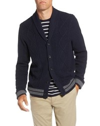 1901 Cable Knit Shawl Collar Cardigan