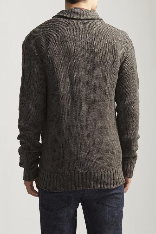 Cable Shawl Collar Cardigan Sweater