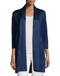 St. John Collection 34 Sleeve Open Front Cardigan Ink